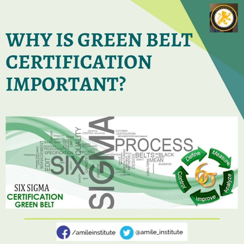 online Six Sigma Green belt certificate